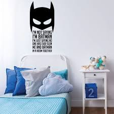 Im Batman Quote Childrens Room Vinyl Wall Decal Playroom Decor Customvinyldecor Com