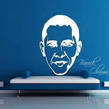 Amazon Com Barack Obama Removable Room Vinyl Decal Art Vinyl Wall Decal Home Decor Hds4164 Home Kitchen