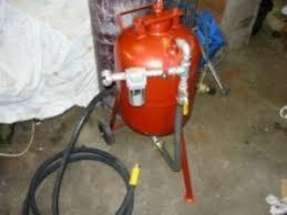 homemade sandblasting pressure pot