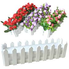 Wooden Flower Pot Fence Plant Basket Container Planter Home Garden Wedding Decor Small Fence Christmas Decor Garden Decor Flower Pots Planters Aliexpress