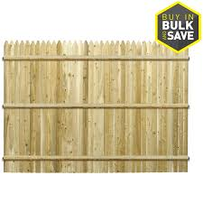 Severe Weather 6 Ft H X 8 Ft W Cedar Stockade Fence Panel In The Wood Fence Panels Department At Lowes Com
