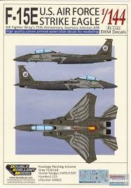 Dxm81 1111 1 144 Dxm Decals F 15e Strike Eagle 4th Fighter Wing 75th Anniversary