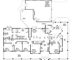 ranch style house plan 4 beds 3 baths