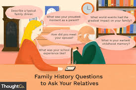 questions to ask relatives about family history
