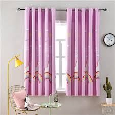 2020 Pink Blue Rainbow Horse Short Blackout Curtains For Children Room Living Room Kids Bedroom High Quality From Kuaikey 14 16 Dhgate Com