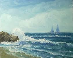 Byron Holmes 8x10 seascape oil painting, California plein air impressionist  | #525121769