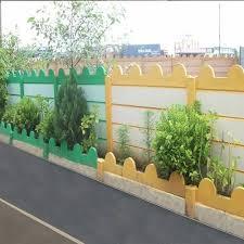 white green yellow garden curbing rcc