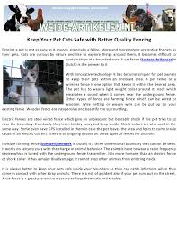 Keep Your Pet Cats Safe With Better Quality Fencing