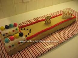 coolest bowling lane birthday cake