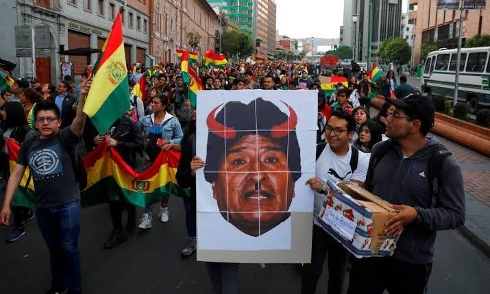 """Resultado de imagem para PROTESTO Na bolivia"""""""