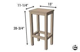 bar stools ever free diy plans