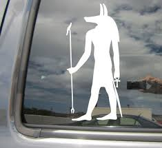 Anubis Egyptian God Afterlife Mummification Car Window Vinyl Decal Sticker 08093