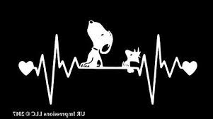 Snoopy And Woodstock Heartbeat Decal Vinyl Sticker Ur Impressions Cars