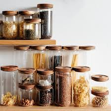 clear glass kitchen canisters
