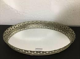 tray mirror gold perfume vanity dresser