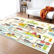 Maze Cartoon Car Print Round Carpets For Kids Living Room Game Rug For Children Bedroom Crawl Mat Yoga Mat Basket Play Pad Mat Carpet Aliexpress