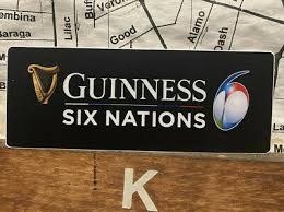Guinness Six Nations Rugby Vinyl Sticker Decal 4 Ebay
