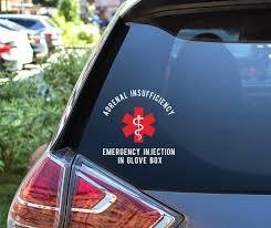 Adrenal Insufficiency Medical Alert Car Decal Adrenal Insufficiency 614vinylllc