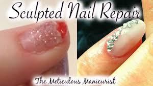 acrylic nail repair after broken