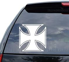 Amazon Com Diamondcutstickerz Maltese Iron Cross Knight Templar Decal Sticker Car Truck Motorcycle Window Ipad Laptop Wall Decor Size 05 Inch 13 Cm Tall Color Matte White Home Kitchen