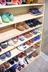 How To Make A Super Sized Shoe Rack On A Budget