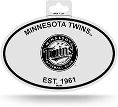 Amazon Com Rico Minnesota Twins Oval Decal Sticker Black And White Car Window Established 1961 Sports Outdoors