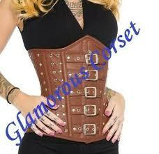 100 leather steampunk corset underbust