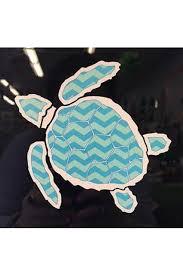 Large Car Decal Sea Turtle Chevron Shop Whimsicality