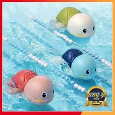 Rùa bơi thả bồn tắm cho bé - Rùa thả hồ bơi chạy cót mini làm đồ ...