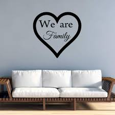 Vwaq We Are Family Wall Decal Home Decor Vinyl Quotes Heart Love Wall