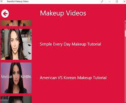 windows 10 makeup videos app to learn