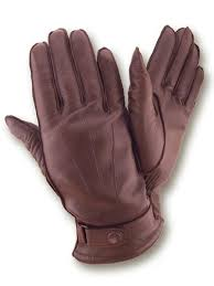winter brown mens leather gloves