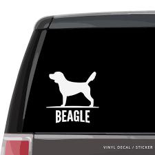 Beagle Silhouette Vinyl Decal Sticker Custom Gifts Etc