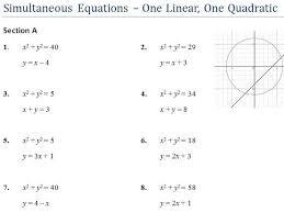 gcse revision simultaneous equations