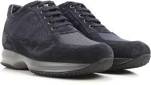 hogan shoes for men denim blue sneakers