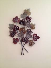 autumn leaves metal wall art free