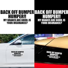 Back Off Bumper Humper Letters Car Suv Sticker Window Decorative Vinyl Decal Buy At A Low Prices On Joom E Commerce Platform