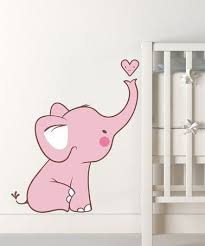 Pink Baby Elephant Wall Decal By Lollipop Walls On Zulily Baby Elephant Elephant Wall Decals Baby Girl Room