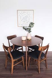 Dakota 5 Piece Dining Table Set For 4 Walnut Small Kitchen Table Edloe Finch Furniture Co