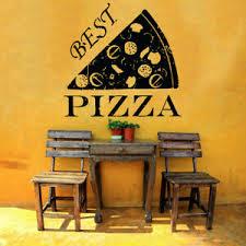 Wall Vinyl Art Sticker Pizza Italian Restaurant Pizzeria Food Window Decor Hi147 Ebay