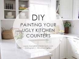 diy painting my kitchen countertops