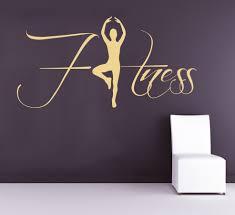 Fitness Wall Decals Sportwoman Sport Girl Gym Exercise Home Art Mural Vinyl Decal Sticker Interior Design Living Room A126 Room Design Living Roomfitness Wall Aliexpress
