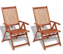 wood folding garden chair set
