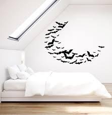 Vinyl Wall Decal Bats Patterns Halloween Horror Gothic Art Stickers Mu Wallstickers4you