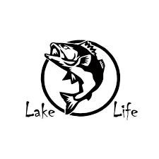 Personality Style Car Stying Lake Life Fish Decal Sticker Fishing Car Bargain Bait Box