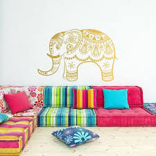 Elephant Mandala Wall Decal Indian Ornament Boho Wall Etsy Meditation Decor Wall Decals Vinyl Wall Decals