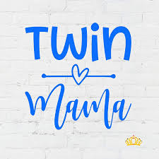 Amazon Com Custom Twin Mama Vinyl Sticker Mom Decal For Yeti Cup Tumbler Laptop Car Window Accessories For Women You Choose Size Color Glitter Available Handmade