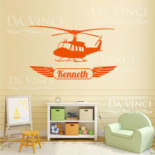 Helicopter Airplane Planes Wall Room Custom Name Vinyl Wall Decal Sticker Decals Kawasaki Stickers Ipoddecal Car Stickers Aliexpress