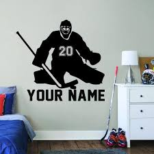 Hockey Goalie Sticker Wall Decal Sportesi