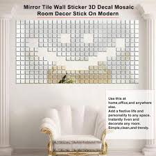 100 Piece Mirror Tile Wall Sticker 3d Decal Mosaic Room Decor Stick On Modern From Cooking Buy At A Low Prices On Joom E Commerce Platform